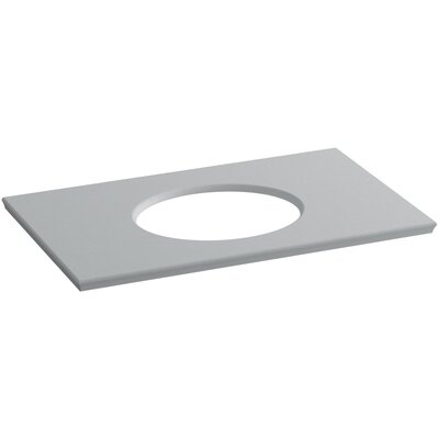 Solid/Expressions Single Verticyl Oval Cut out 37 Single Bathroom Vanity Top Finish: Ice Grey Expressions