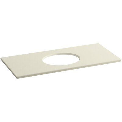 Solid/Expressions Verticyl Oval Cutout 50 Single Bathroom Vanity Top Finish: Almond Expressions