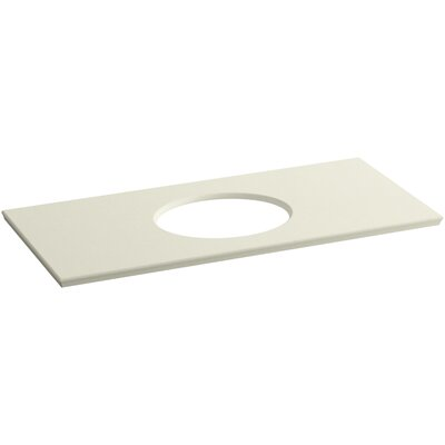 Solid/Expressions Verticyl Oval Cutout 50 Single Bathroom Vanity Top Finish: Biscuit Expressions