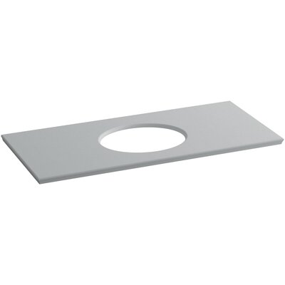 Solid/Expressions Verticyl Oval Cutout 50 Single Bathroom Vanity Top Finish: Ice Grey Expressions