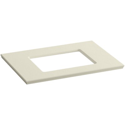 Solid/Expressions Single Verticyl Rectangular Cutout 31 Single Bathroom Vanity Top Finish: Almond Expressions