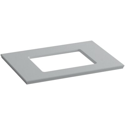 Solid/Expressions Single Verticyl Rectangular Cutout 31 Single Bathroom Vanity Top Finish: Ice Grey Expressions
