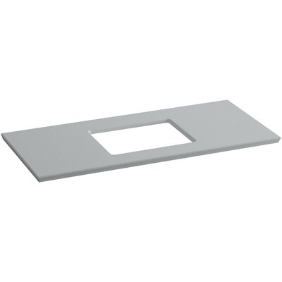 Solid/Expressions 49 Single Bathroom Vanity Top Finish: Ice Grey Expressions