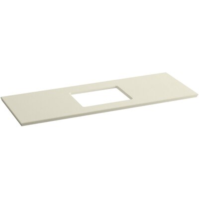 Solid/Expressions 61 Single Bathroom Vanity Top Finish: Almond Expressions
