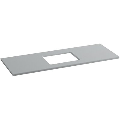 Solid/Expressions 61 Single Bathroom Vanity Top Finish: Ice Grey Expressions
