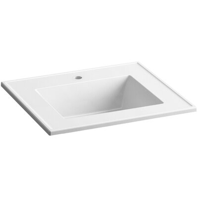 Ceramic Impressions 25 Console Bathroom Sink with Overflow Finish: White Impressions