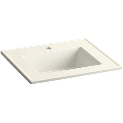 Ceramic Impressions 25 Console Bathroom Sink with Overflow Finish: Biscuit Impressions