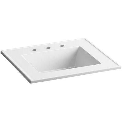Ceramic Impressions Impressions Ceramic Rectangular Drop-In Bathroom Sink with Overflow Finish: White Impressions