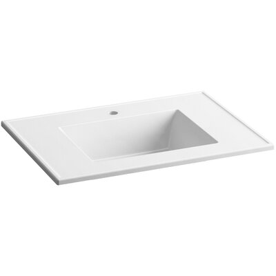 Ceramic Impressions Impressions 31 Single Faucet Hole Single Bathroom Vanity Top Top Finish: White Impressions