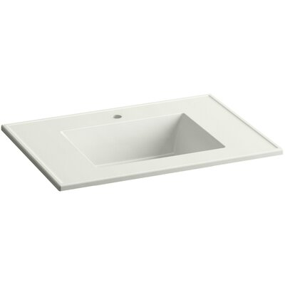 Ceramic Impressions Impressions 31 Single Faucet Hole Single Bathroom Vanity Top Top Finish: Dune Impressions