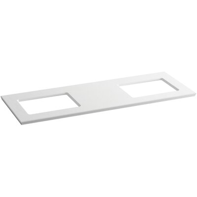 Solid/Expressions 62 Double Bathroom Vanity Top Finish: White Expressions