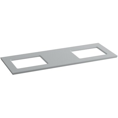 Solid/Expressions 62 Double Bathroom Vanity Top Finish: Ice Grey Expressions