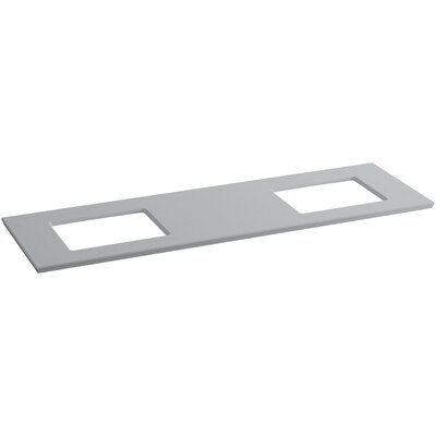 Solid/Expressions 73 Double Bathroom Vanity Top Finish: Ice Grey Expressions