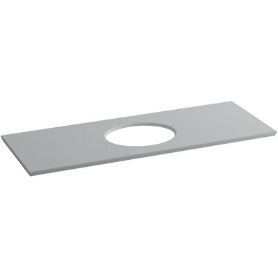 Solid/Expressions Single Verticyl Oval Cutout 61 Single Bathroom Vanity Top Finish: Ice Grey Expressions