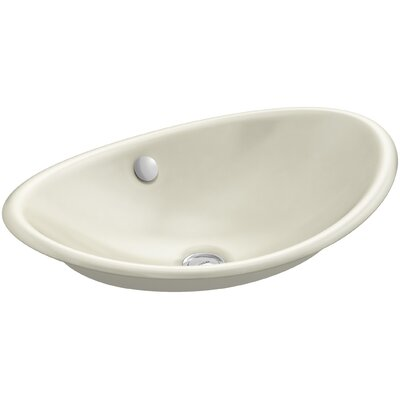 Iron Plains Wading Pool Oval Vessel Bathroom Sink with Overflow Finish: Cane Sugar