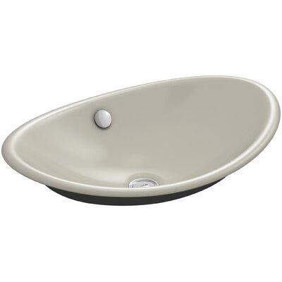 Iron Plains Plains? Metal Oval Vessel Bathroom Sink with Overflow Finish: Sandbar