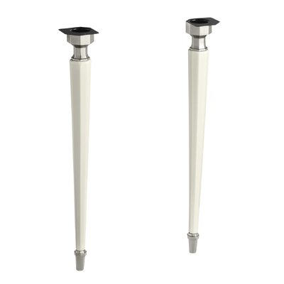 Kathryn Octagonal Fireclay/Brushed Nickel Tapered Brass Table Legs Finish: Biscuit
