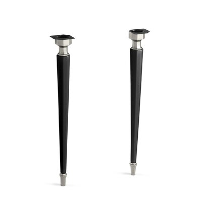 Kathryn Octagonal Fireclay/Brushed Nickel Tapered Brass Table Legs Finish: Black Black