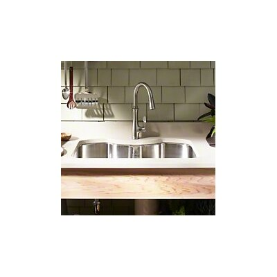 Octave 32 x 20-1/4 x 9-5/16 Under-Mount Double-Equal Stainless Steel Kitchen Sink