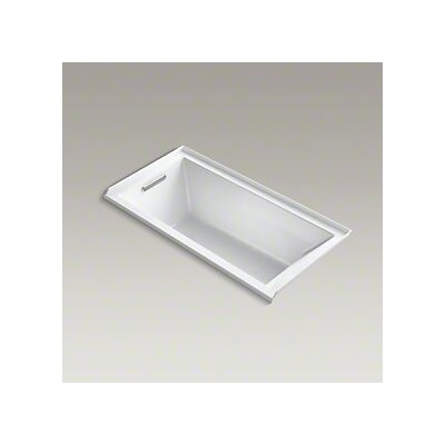 Underscore 60 x 30 Bathtub Finish: White, Drain Location: Right