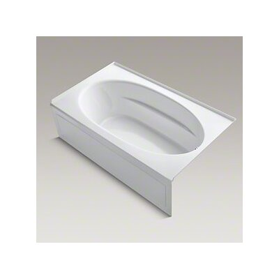 Windward 72 x 42 Air Bathtub Finish: White, Drain Location: Right