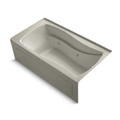 Mariposa 66 x 36 Whirlpool Bathtub Finish: Sandbar, Drain Location: Right