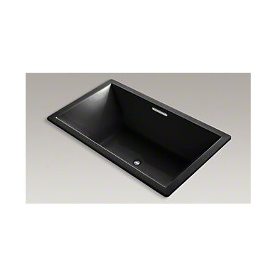 Underscore 72 x 42 Soaking Bathtub Finish: Black Black