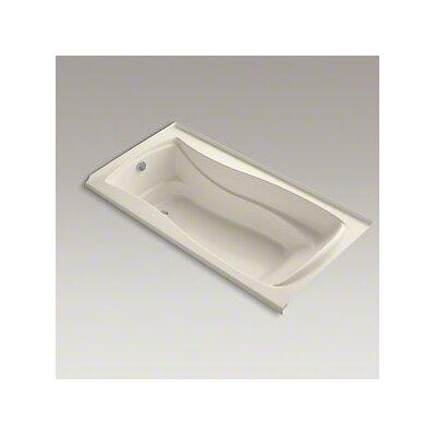 Mariposa Bubblemassage 72 x 36 Soaking Bathtub Finish: Almond, Drain Location: Left