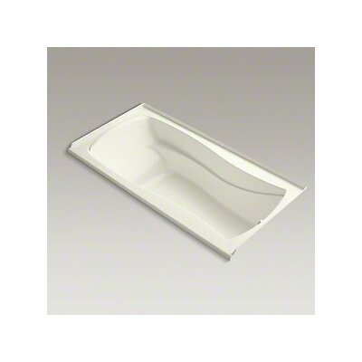 Mariposa Bubblemassage 72 x 36 Soaking Bathtub Finish: Biscuit, Drain Location: Right