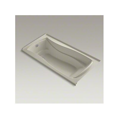 Mariposa Bubblemassage 72 x 36 Soaking Bathtub Finish: Sandbar, Drain Location: Left