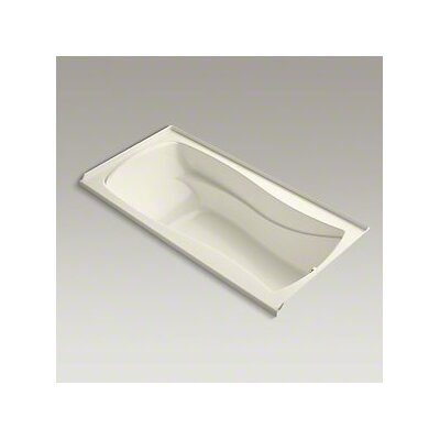 Mariposa Bubblemassage 72 x 36 Soaking Bathtub Finish: Almond, Drain Location: Right