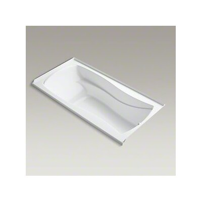 Mariposa Bubblemassage 72 x 36 Soaking Bathtub Finish: White, Drain Location: Right