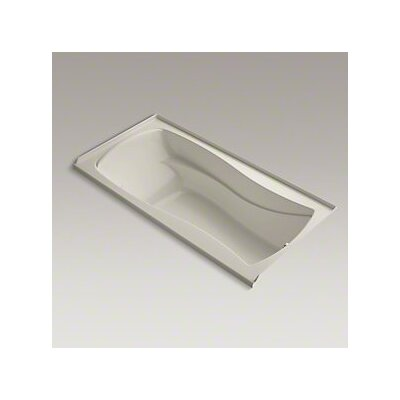 Mariposa Bubblemassage 72 x 36 Soaking Bathtub Finish: Sandbar, Drain Location: Right