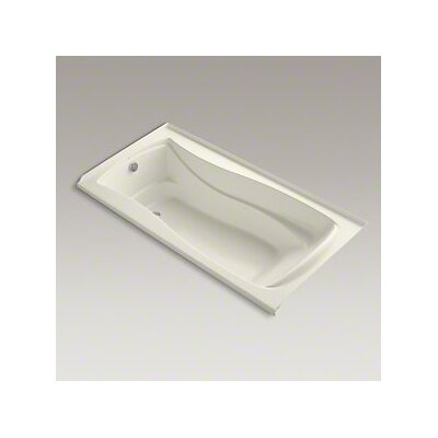 Mariposa Bubblemassage 72 x 36 Soaking Bathtub Finish: Biscuit, Drain Location: Left