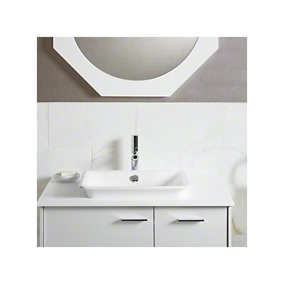 Iron Plains Wading Pool Rectangular Vessel Bathroom Sink with Overflow Finish: Biscuit