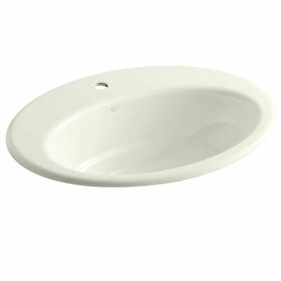 Thoreau Metal Oval Drop-In Bathroom Sink Finish: Biscuit