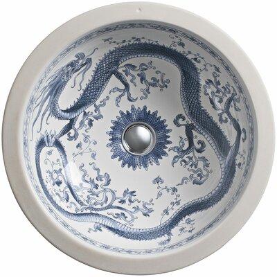 Imperial Ceramic Circular Undermount Bathroom Sink