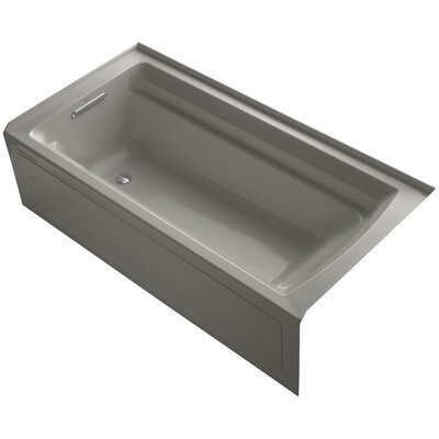 Archer Alcove 72 x 36 Soaking Bathtub Finish: Cashmere