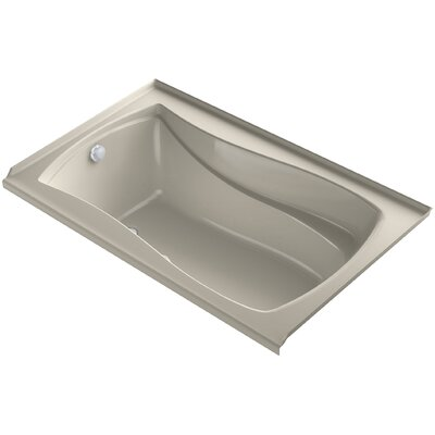 Mariposa Alcove Bubblemassage 60 x 36 Soaking Bathtub Finish: Sandbar, Drain Location: Left