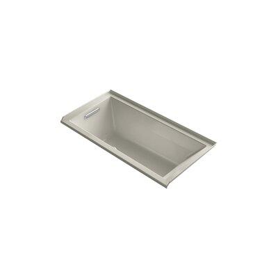 Underscore 60 x 30 Air Bathtub Finish: Sandbar, Drain Location: Left