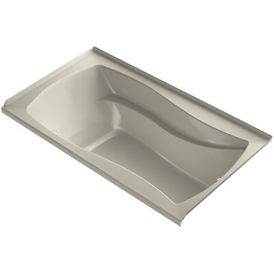 Mariposa Alcove Bubblemassage 66 x 36 Soaking Bathtub Finish: Sandbar, Drain Location: Right