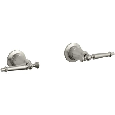 Antique Valve Trim with Lever Handles Finish: Vibrant Brushed Nickel