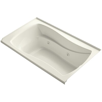 Mariposa Alcove 60 x 36 Whirpool Bathtub Finish: Biscuit, Adjustable Jets: No