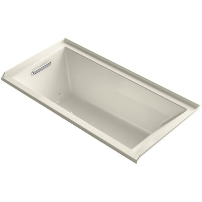 Underscore 60 x 30 Air Bathtub Finish: Almond, Drain Location: Left
