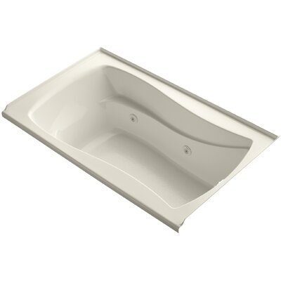 Mariposa Alcove 60 x 36 Whirpool Bathtub Finish: Almond, Adjustable Jets: Yes