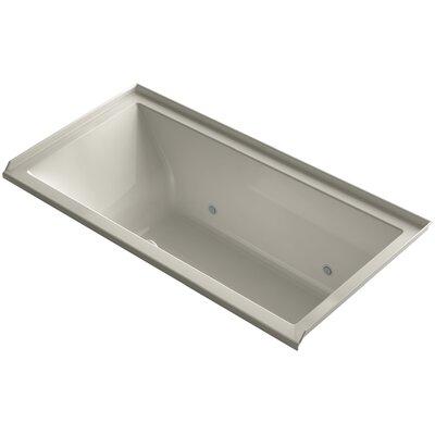 Underscore 60 x 30 Air Bathtub Finish: Sandbar, Drain Location: Right
