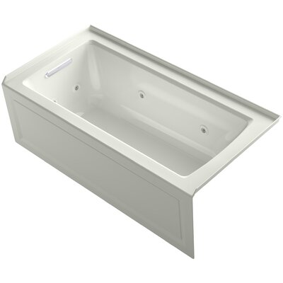 Archer 60 x 30 Alcove Whirlpool Finish: Dune, Drain Location: Left