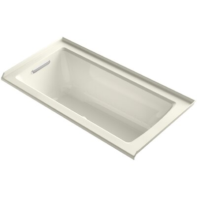 Archer 60 x 30 Air Bathtub Finish: Biscuit, Drain Location: Left