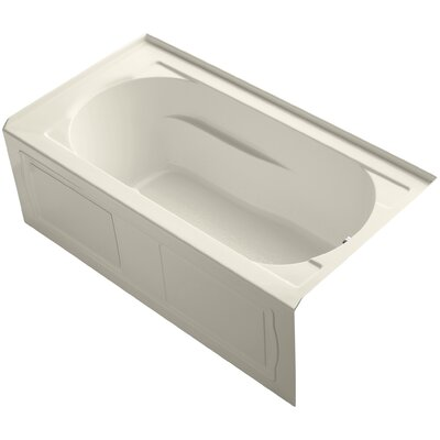 Devonshire Alcove BubbleMassage� Air Bath with Integral Apron, Tile Flange, Right-Hand Drain and Heater Finish: Almond