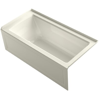 Archer 60 x 30 Air Bathtub Finish: Biscuit, Drain Location: Right